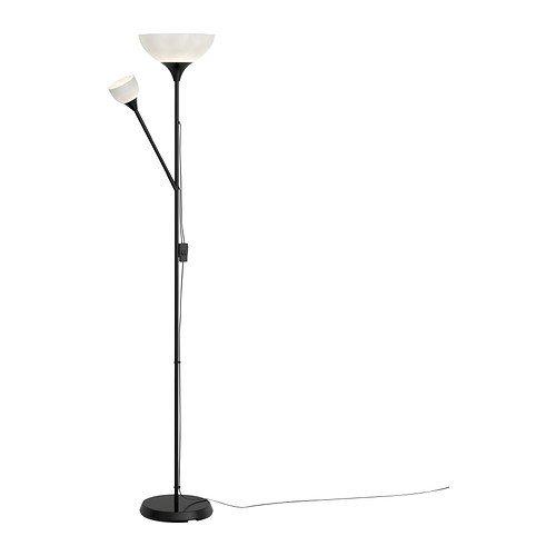 IKEA-Stehlampe-Deckenfluter-NOT-Leseleuchte-Leselampe-176-cm-hoch-atmosphrische-Standleuchte-in-SCHWARZ-0