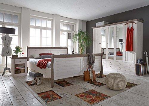 Steens-Furniture-7317000269001F-Schlafzimmer-Monaco-mit-Bett-180-x-200-cm-kiefer-massiv-wei-lasiert-stone-abgesetzt-0-0