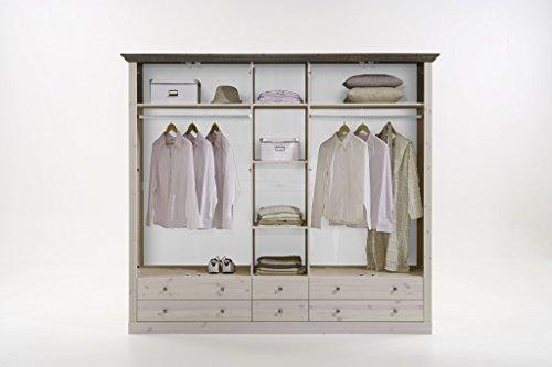 Steens-Furniture-7317000269001F-Schlafzimmer-Monaco-mit-Bett-180-x-200-cm-kiefer-massiv-wei-lasiert-stone-abgesetzt-0-1