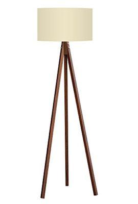 Stehlampe-Tripod-Stehleuchte-Deckenfluter-Standleuchte-Leselampe-Bodenlampe-Beige-Schirm-Braun-Fu-0