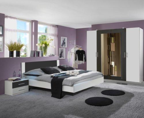 Wimex-727129-Schlafzimmer-Set-bestehend-aus-Bett-160-x-200-cm-Nachtschrankpaar-je-zwei-Schubksten-und-Kleiderschrank-4-trig-225-x-210-x-58-cm-0-1