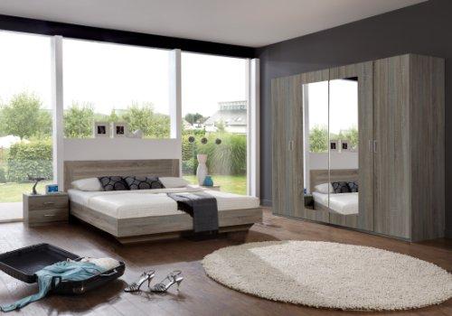 Wimex-749323-Schlafzimmer-Set-bestehend-aus-Bett-180-x-200-cm-Nachtschrankpaar-je-zwei-Schubksten-und-Kleiderschrank-4-trig-225-x-210-x-58-cm-0-1