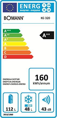 Bomann-KG-320-Khl-Gefrier-Kombination-A-163-kWhJahr-112-L-Khlteil-48-L-Gefrierteil-silber-0-0