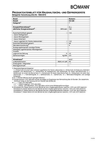 Bomann-KG-320-Khl-Gefrier-Kombination-A-163-kWhJahr-112-L-Khlteil-48-L-Gefrierteil-silber-0-1