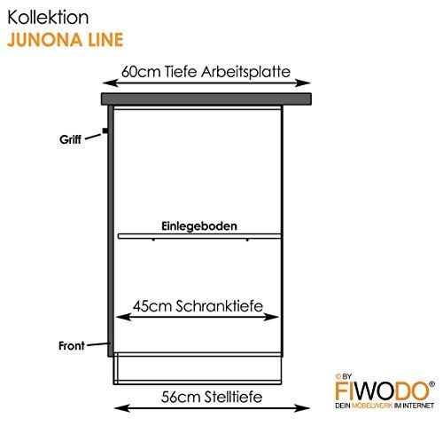 moebeldeal Küche 240cm von FIWODO u00ae u2013 ERWEITERBAR u2013 günstig + schnell u2013 Einbauküche Junona Line ~ Küchen Süd
