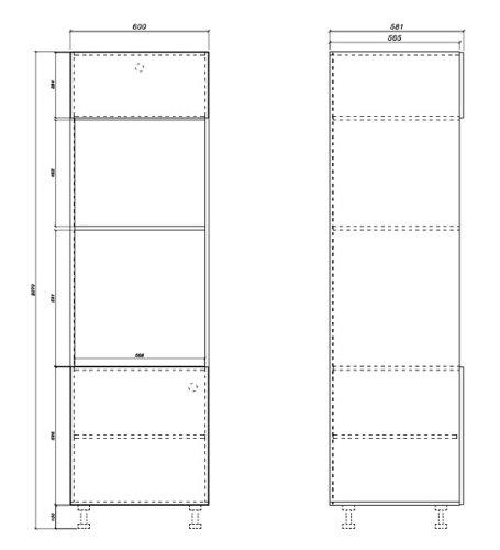 Kchenzeile-Kchenblock-16893-L-Form-250-x-210-cm-grau-rosenrot-wei-Hochglanz-0-3
