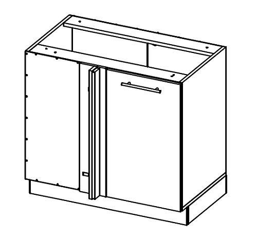 Kchenzeile-Kchenblock-16893-L-Form-250-x-210-cm-grau-rosenrot-wei-Hochglanz-0-4